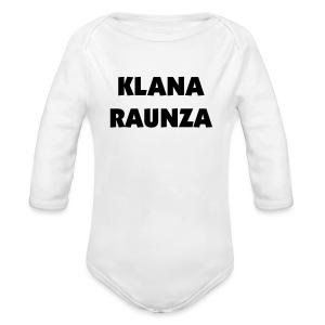 Klana Raunza - Baby Bio-Langarm-Body