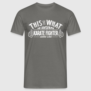 awesome karate fighter looks like pro de - Men's T-Shirt