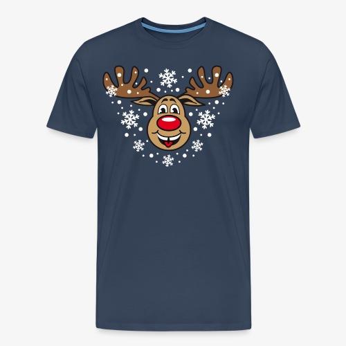 Toller Hirsch Rudolph Weihnachtselch witzig T-Shirt - Männer Premium T-Shirt