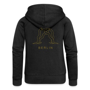 Berlin sculptur at Tauentzien (gold) - Women's Premium Hooded Jacket