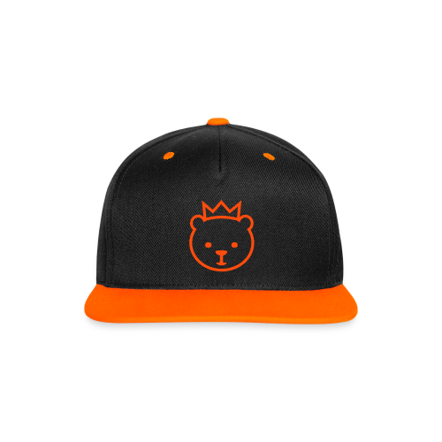 Berliner Bär (neon-orange) - Kontrast Snapback Cap
