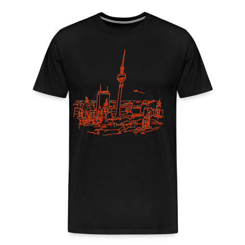 Berlin Panorama (neon-orange) - Männer Premium T-Shirt