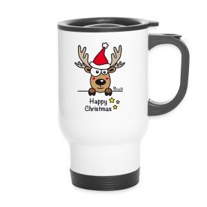 Mug Thermos Baby Renne, Noël - Happy Christmas - Mug thermos