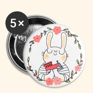 Spillette coniglietta - Spilla media 32 mm