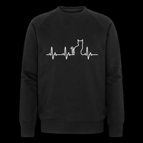 Herzschlag Katze - Männer Bio-Sweatshirt von Stanley & Stella