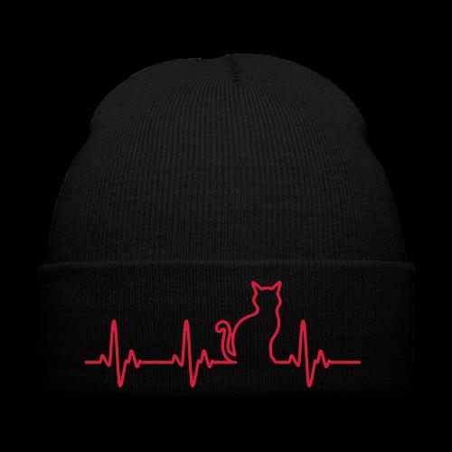 Herzschlag Katze - Wintermütze