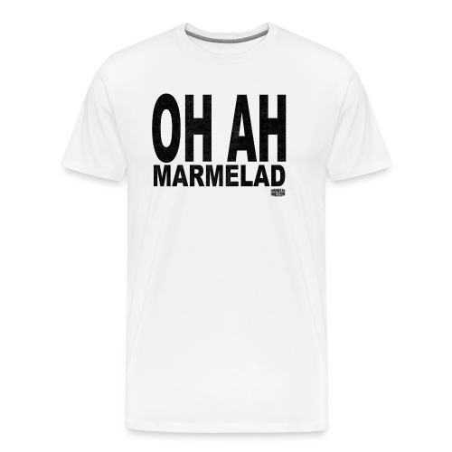 Vit T-shirt för herrar - Premium-T-shirt herr