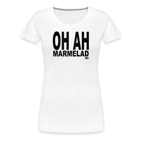 Vit T-shirt för damer - Premium-T-shirt dam