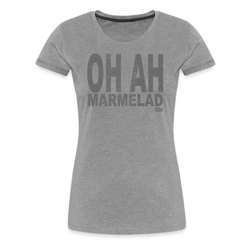 Grå T-shirt för damer - Premium-T-shirt dam