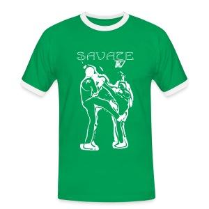 Savate TKV - Männer Kontrast-T-Shirt