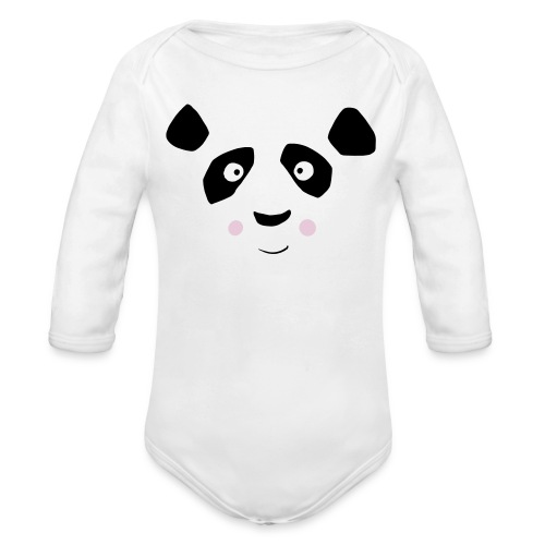 Sweet Panda - Baby Bio-Langarm-Body