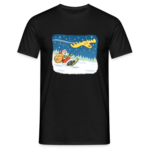 Kitesurfender Weihnachtsmann - Herren-Tshirt - Männer T-Shirt