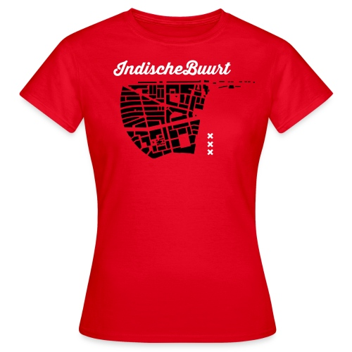 Indische Buurt A'dam Vrouw - Vrouwen T-shirt