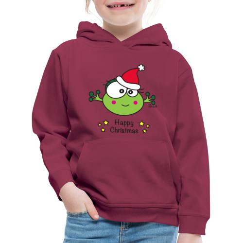 Pull Enfant Grenouille F Frog Noël Happy Xmas - Pull à capuche Premium Enfant