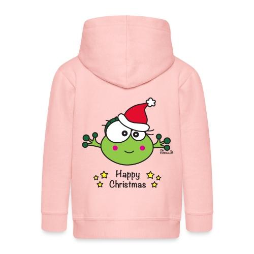 Veste Enfant Grenouille F Frog Noël Happy Xmas - Veste à capuche Premium Enfant