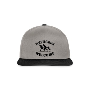 Refugees Welcome Kappe - Snapback Cap