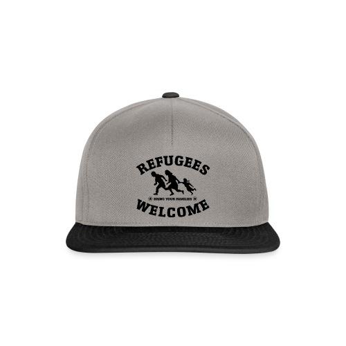 Refugees Welcome Kappe - Snapback Cap
