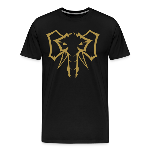 Elephant Glitter Gold - Herre premium T-shirt - Herre premium T-shirt