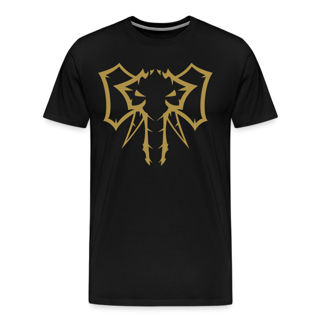 Elephant Glitter Gold - Herre premium T-shirt