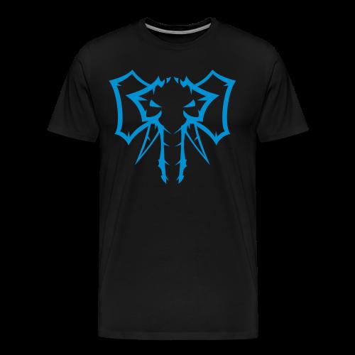 Elephant Blue - Herre premium T-shirt - Herre premium T-shirt