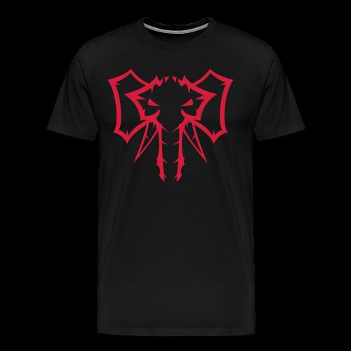 Elephant Red  - Herre premium T-shirt - Herre premium T-shirt