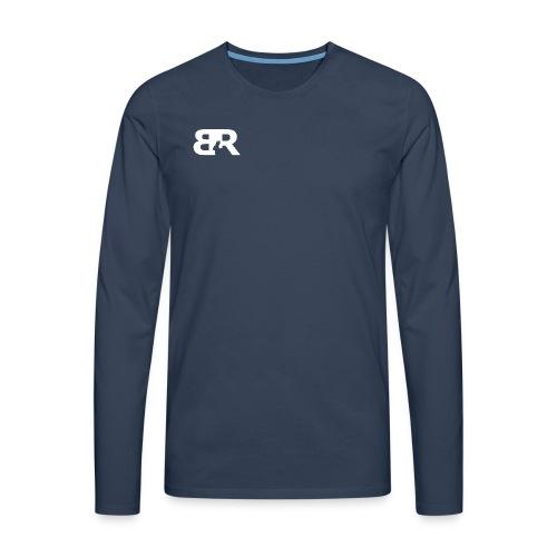 Men Longsleeve Front and Back - Mannen Premium shirt met lange mouwen