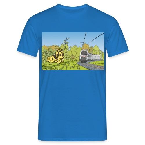 Raupe und Zug - Männer T-Shirt