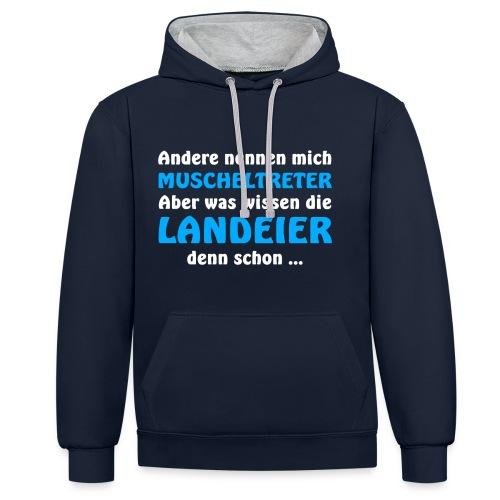 Insulaner vs Landeier - Kontrast-Hoodie