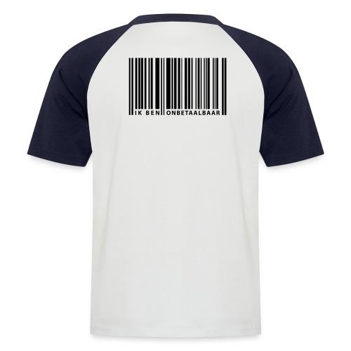 Barcode T-shirt Mannen - Mannen baseballshirt korte mouw