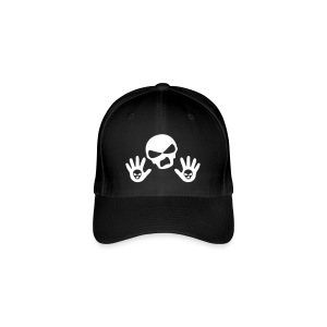 Back Up Skull Design - Flexfit Baseball Cap