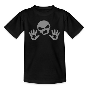 Back Up Skull Design - Teenage T-shirt
