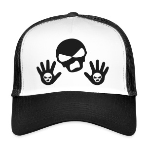 Back Up Skull Design - Trucker Cap