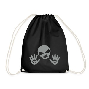 Back Up Skull Design - Drawstring Bag