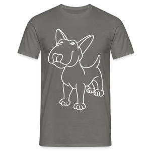 Bull Terrier Stand  - Men's T-Shirt