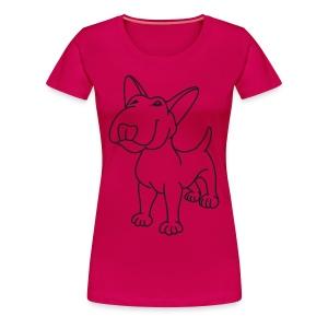 Bull Terrier Stand - Women's Premium T-Shirt