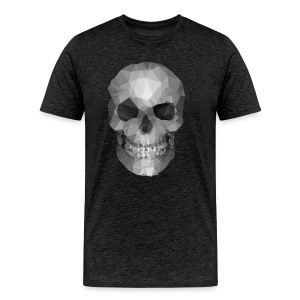 Polygons Skull - Men's Premium T-Shirt