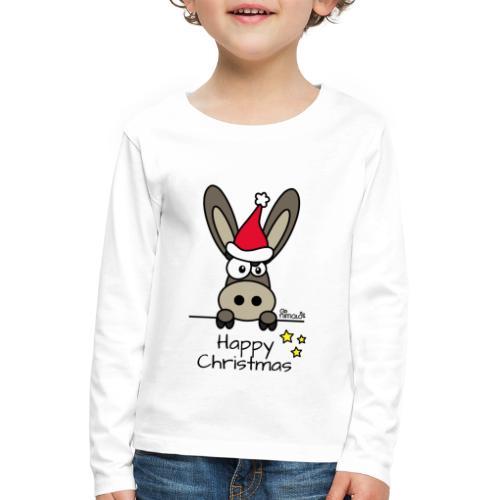 T-shirt ml Enfant Âne Noël Happy Christmas - T-shirt manches longues Premium Enfant