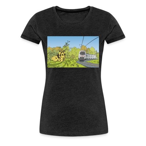 Raupe und Zug - Frauen Premium T-Shirt