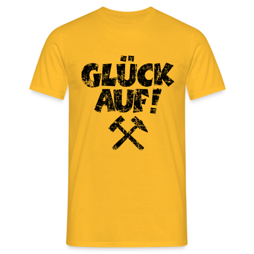 Glück Auf Ruhrpott T-Shirt (Distressed Schwarz) - Männer T-Shirt