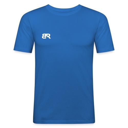 Men Slim Fit Shirt Logo Front and Back - slim fit T-shirt