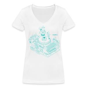 detektor.fm-T-Shirt für Frauen - Frauen Bio-T-Shirt mit V-Ausschnitt von Stanley & Stella