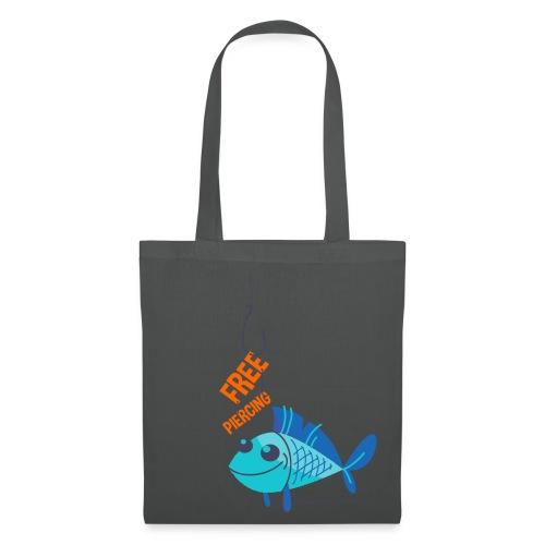 Lächelnder Fisch - FREE PIERCING - Stoffbeutel
