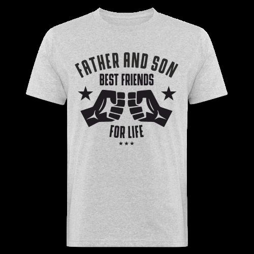 Father and Son - Männer Bio-T-Shirt