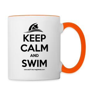 Tasse bicolore Keep calm and swim - Tasse bicolore