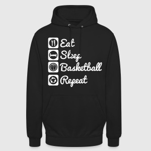 Eat,sleep,basketball,repeat Basket Shirt - Unisex Hoodie