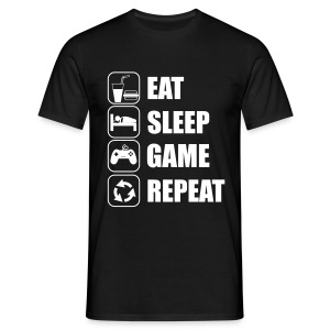 Eat,sleep,game,repeat Gamer Gaming Geek Nerd - T-shirt Homme