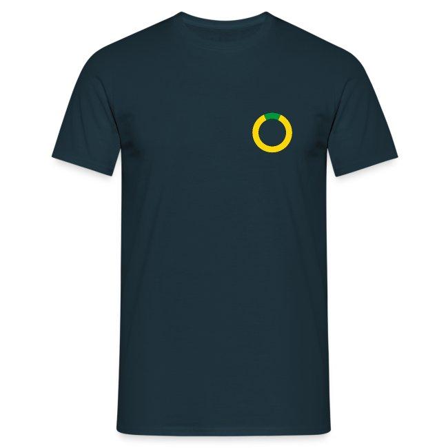 T-shirt: Plattsnacker. blau.