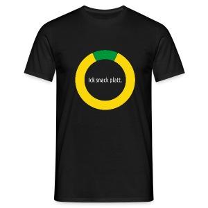 Ick snack Platt. Swatt. - Männer T-Shirt