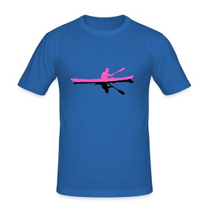 Seakayak Silhouette in pink and black - Männer Slim Fit T-Shirt