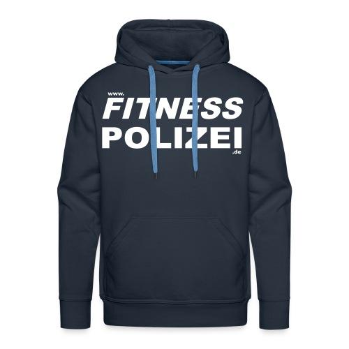 Hoodie, Fitness-Polizei, Navy - Männer Premium Hoodie